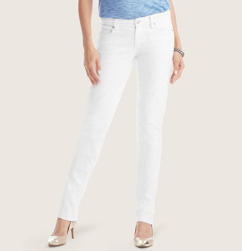 LOFT Tall Modern Straight Leg Jeans in White