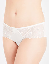 Simone Perele Boheme crepe and stretch-lace shorty briefs