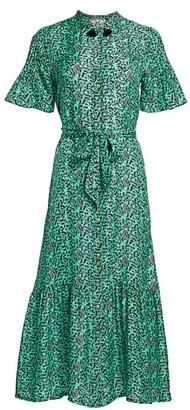 Figue Saskia Floral Silk Shirtdress