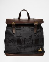 Vivienne Westwood Africa Scribble Tartan Backpack - Black