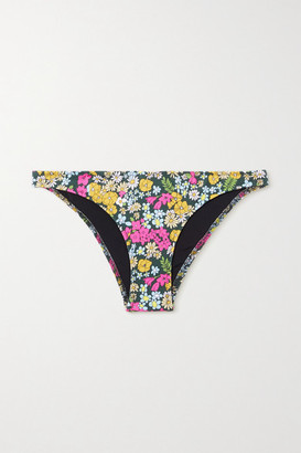 Solid & Striped Il Pellicano The Rachel Floral-print Bikini Briefs - Black