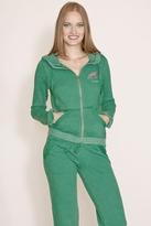 Gypsy 05 Shelly Zip-Up Sweatshirt In Emerald