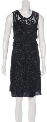 Alberta Ferretti Embroidered Knee-Length Dress