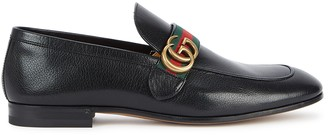 Gucci Donnie Black Leather Loafers