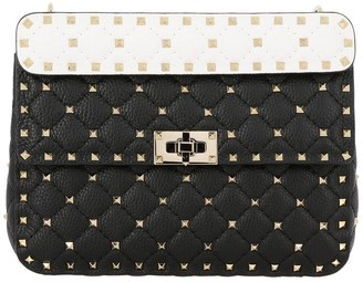 Valentino Garavani Rockstud Spike Bag In Quilted Leather With Removable Handle And Shoulder Strap