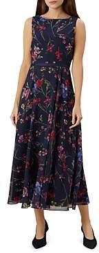 Hobbs London Carly Sleeveless Floral-Print Maxi Dress