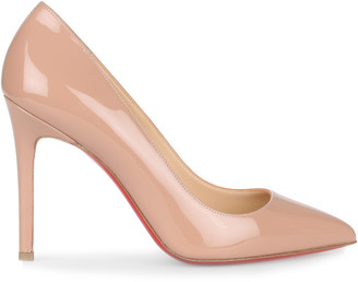 Christian Louboutin Pigalle 100 patent beige pump