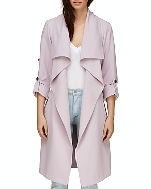 Soia & Kyo Soia and Kyo Ornella Draped Trench Coat