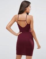 Asos Strappy Back Wrap Front Mini Body-Conscious Dress