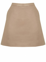 Oasis Sophia Leather Mini Skirt