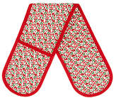 John Lewis Christmas Berries Double Oven Glove, Red