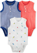 Carter's 3-Pack Printed Cotton Bodysuits, Baby Boys