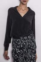 Ikks Black Silk Blouse