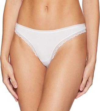 OnGossamer Women's Cabana Cotton Hip G Thong with Trim Panty