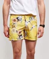 Riz Buckler Sunshine Wave Flower Swim Shorts