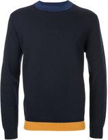 Marni colour block crew neck sweater