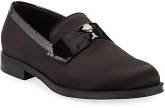 Giorgio Armani Men's Satin/Patent Dress Loafers