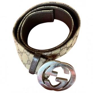 Gucci Beige Leather Belts