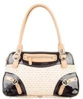 Rafe Leather-Trimmed Straw Bag