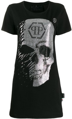 Philipp Plein Skull T-shirt dress