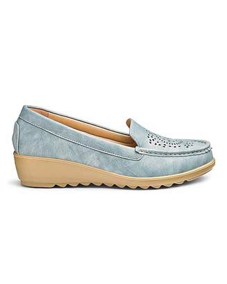 Cushion Walk Wedge Loafers EEE Fit
