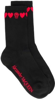 Alexander McQueen Love Heart Skull Socks