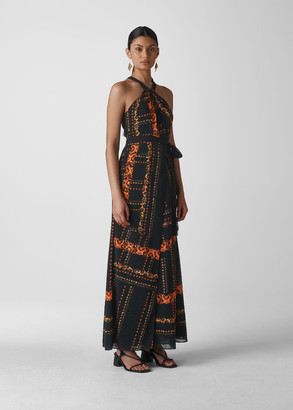 Paisley Scarf Maxi Dress