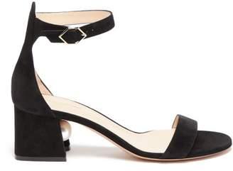 Nicholas Kirkwood Miri Pearl-heeled Suede Sandals - Womens - Black