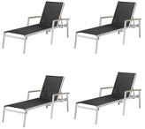 Oxford Garden Travira Chaise Lounges (Set of 4)