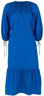 MDS Stripes Blue Garden Dress