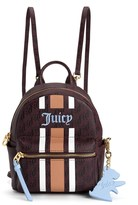 Juicy Couture Solstice Sporty Stripe Leather Mini Backpack