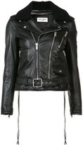 Saint Laurent shearing collar leather jacket