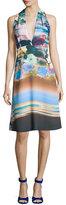 Clover Canyon Floral Whisper Halter Dress, Multicolor