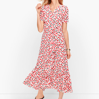 Talbots Cascade Wrap Dress - Floral