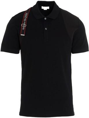 Alexander McQueen Harness Application Polo Shirt