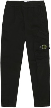 Stone Island Junior Stretch-cotton trackpants