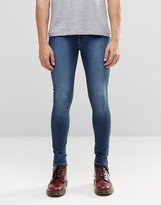 Cheap Monday Mid Spray Jeans Dim Blue