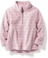 Old Navy Printed Micro-Performance Fleece Half-Zip Jacket for Toddler Girls