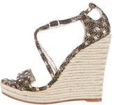 Jean-Michel Cazabat Metallic Knit Sandals