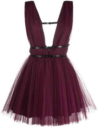 BROGNANO Bow-Embellished Tulle Dress