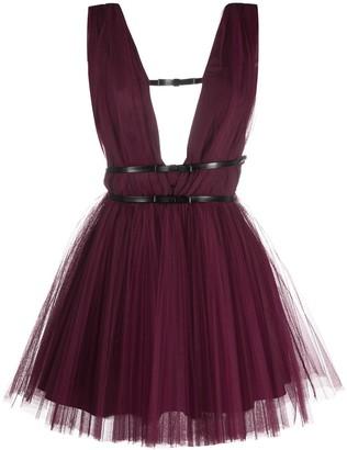 Brognano Bow-Embellished Tulle Dress