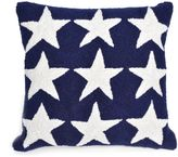 Liora Manné Frontporch Stars Square Indoor/Outdoor Throw Pillow in Blue