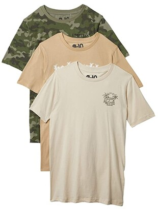 Cotton On Multipack Max Skater Short Sleeve Tee (Toddler/Little Kids/Big Kids) (Free To Roam/Humble/Camo) Boy's Clothing