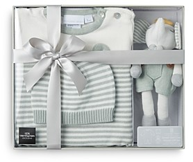 Elegant Baby Boys' 3 Pc. Hat, Jumpsuit & Plush Toy Boxed Gift Set, Baby 100% Exclusive