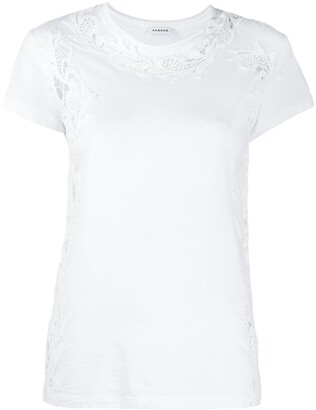 P.A.R.O.S.H. cut-out detail embroidered T-shirt