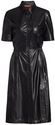 Altuzarra Kura Leather Shirtdress