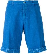 Etro turn-up hem chino shorts - men - Linen/Flax - 52
