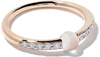 Pomellato 18kt rose gold M'ama non M'ama moonstone & diamond ring