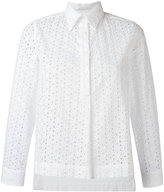 Peter Jensen broderie anglaise shirt - women - Cotton - M