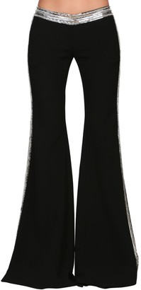 Balmain Embellished Crepe Flared Pants